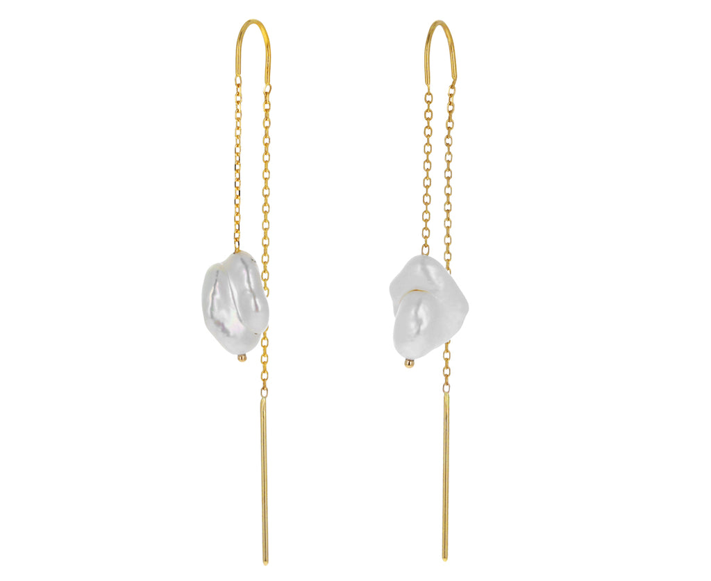 Baby Baroque Pearl Threader Earrings