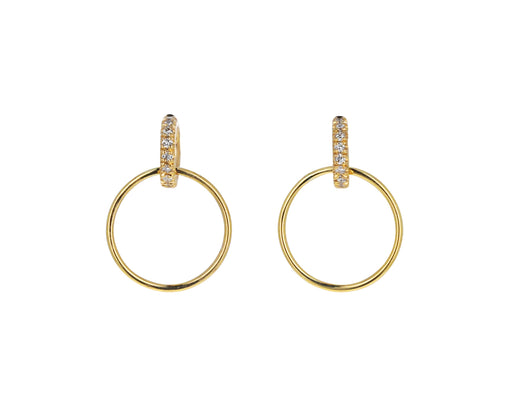 Vita Pave Hoop Earrings