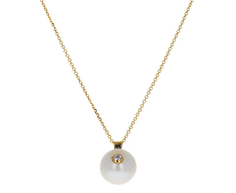 Diamond and Pearl Everly Necklace