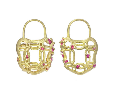Coeur de Dentelle Lattice Padlock Earrings - TWISTonline