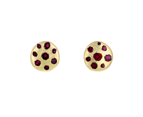Ruby Celeste Crystal Disc Earrings