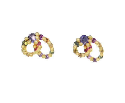 Blossom Crush Osiris Spun Loop Stud Earrings