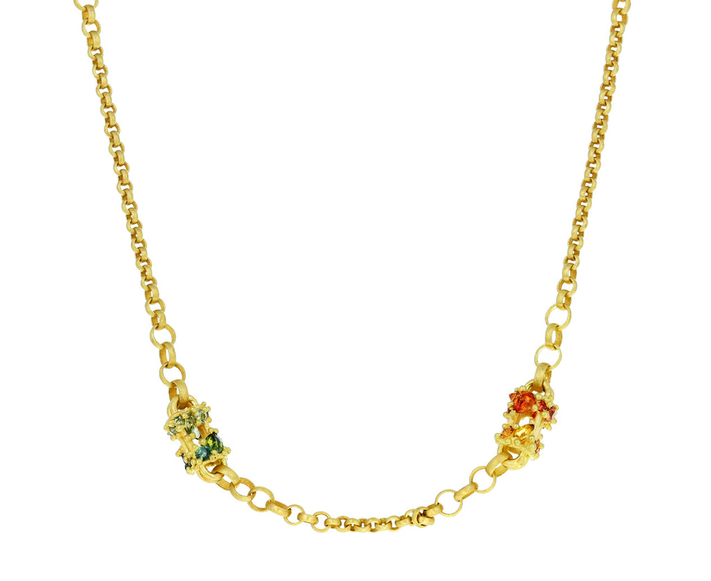 Rainbow Sapphire Cecile Chain Necklace