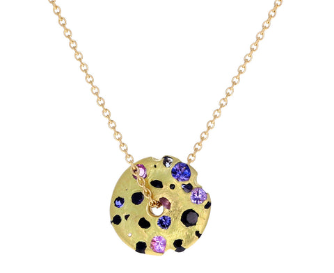 Sapphire Serpentine Spinning Disc Necklace