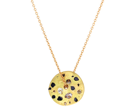 Sapphire Celeste Spinning Disc Necklace