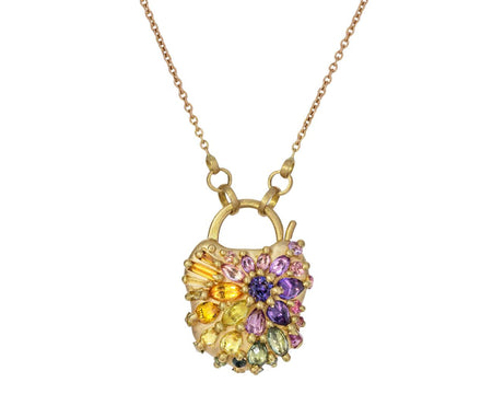 D'Ornano Blossom Crush Padlock Pendant Necklace - TWISTonline