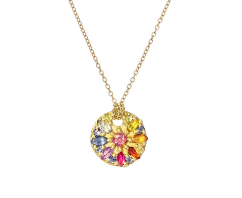 Ourika Rainbow Sapphire Disc Necklace zoom 1_polly_wales_gold_ourika_disc_necklace