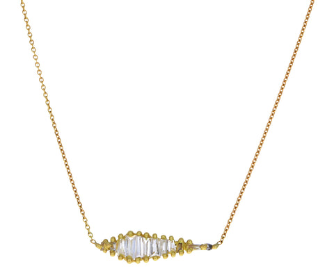 Baguette Diamond Shard Necklace