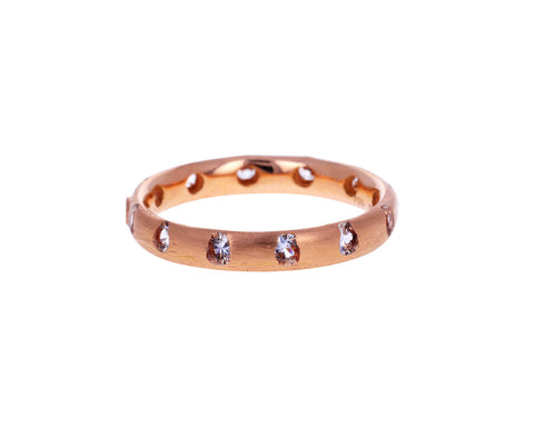 Rose Gold White Sapphire Celeste Crystal Ring