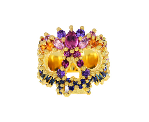 Blossom Crush Heavens Cove Encrusted Skull Ring