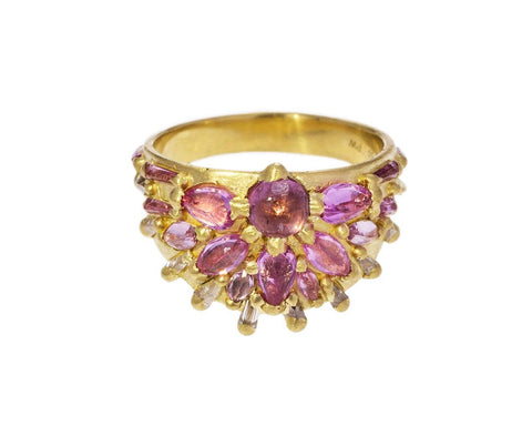 Pink Sapphire Cherry Blossom Half Shield Ring zoom 1_polly_wales_gold_half_shield_ring