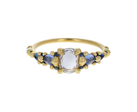 Blue Sapphire and Diamond Lake Marietta Ring