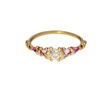 Marietta Coral Halo Diamond Ring - TWISTonline