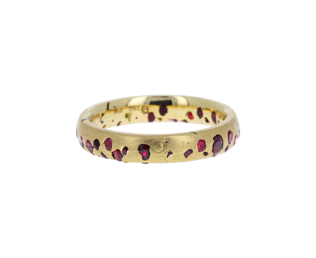 Narrow Ruby Confetti Ring