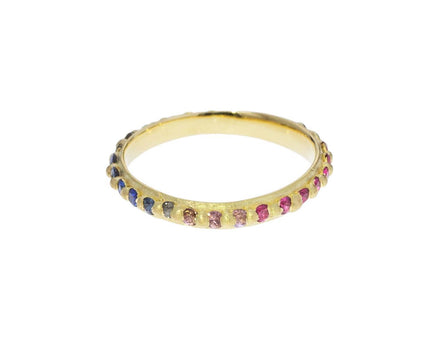 Slim Rainbow Sapphire Nina Pinched Eternity Ring - TWISTonline