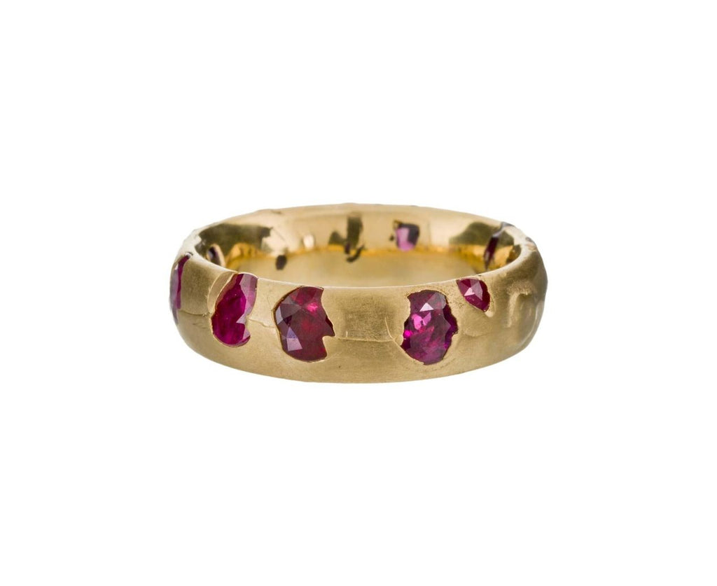Wide Yellow Gold Ruby Ring - TWISTonline