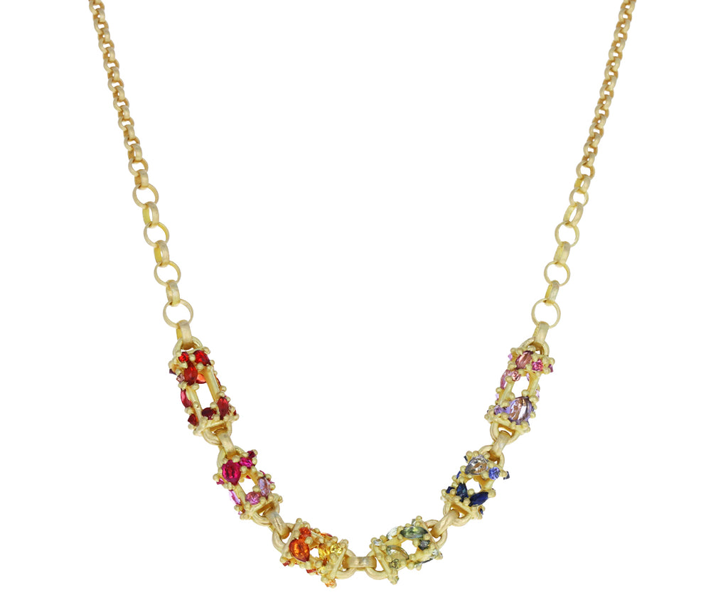 Rainbow Sapphire Cecile Pagoda Necklace