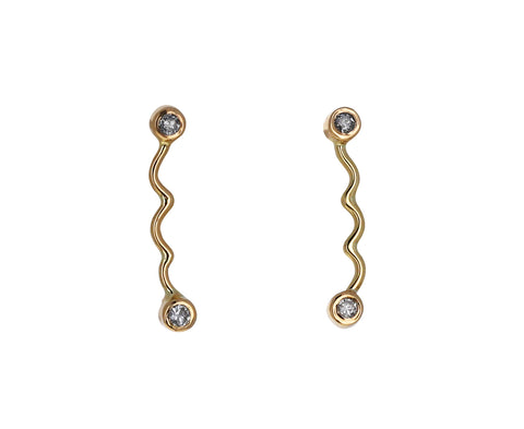 Diamond Dot Dot Dangle Earrings