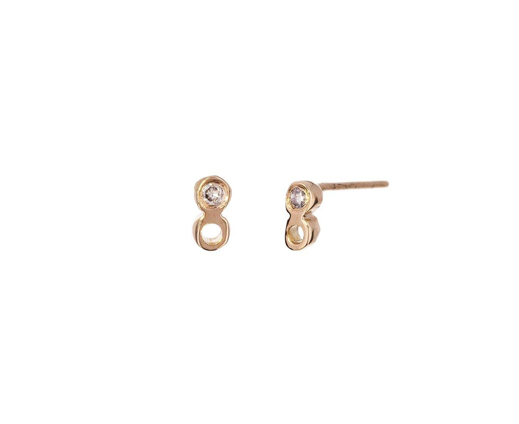 Gray Diamond Dot Dot Earrings - TWISTonline