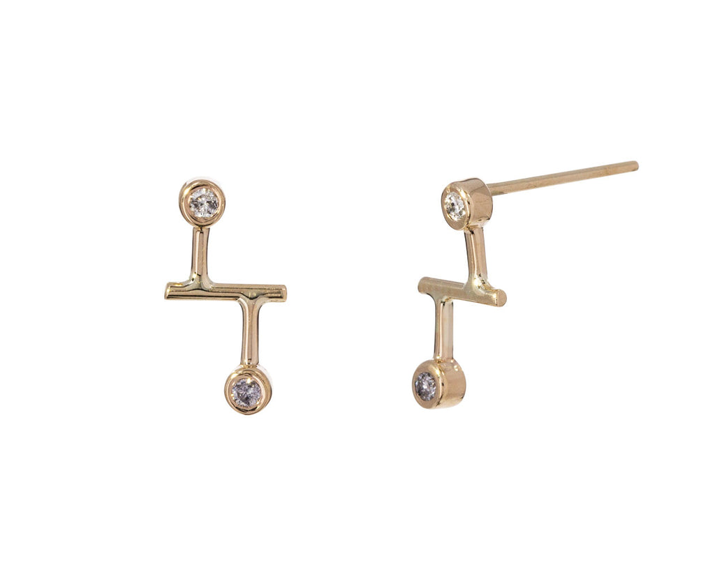 Diamond Dot Dot Stud Earrings