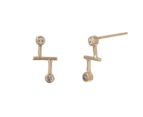 Diamond Dot Dot Stud Earrings - TWISTonline