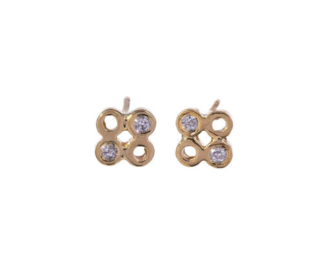 Diamond Dot Dot Earrings - TWISTonline