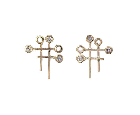 Dot Dot Grid Earrings - TWISTonline