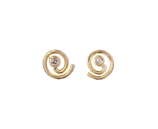 Gray Diamond Dot Dot Spiral Earrings - TWISTonline