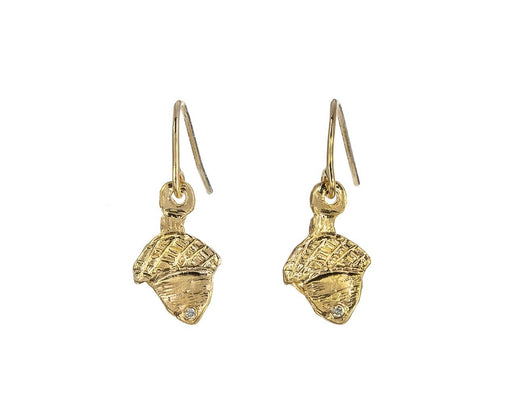 Diamond Acorn Earrings - TWISTonline