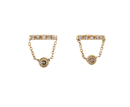 Gravity Earrings with Champagne and White Diamonds - TWISTonline