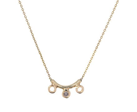 Curved Bar Dot Dot Necklace - TWISTonline