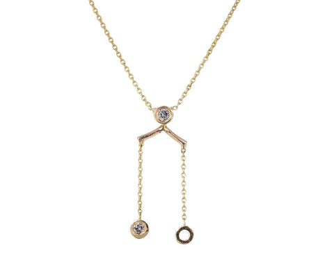 Dot Dot Fringe Pendant Necklace - TWISTonline