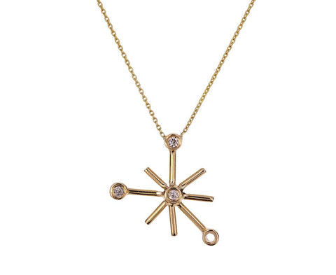 Gray Diamond Dot Dot Star Necklace - TWISTonline