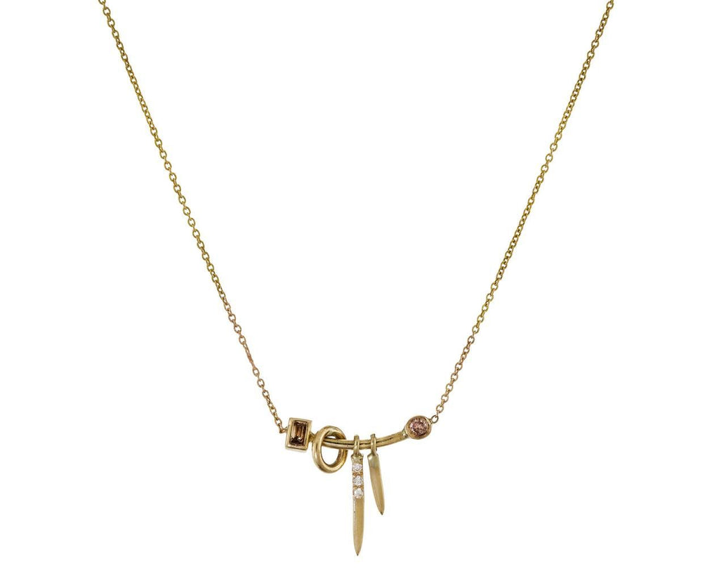 Gravity Trinket Necklace with Diamonds - TWISTonline