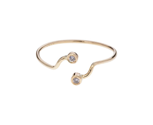 Gray Diamond Split Dot Dot Ring - TWISTonline