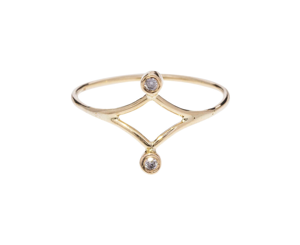 Double Diamond Dot Dot Ring