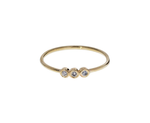 Three Diamond Dot Dot Ring - TWISTonline