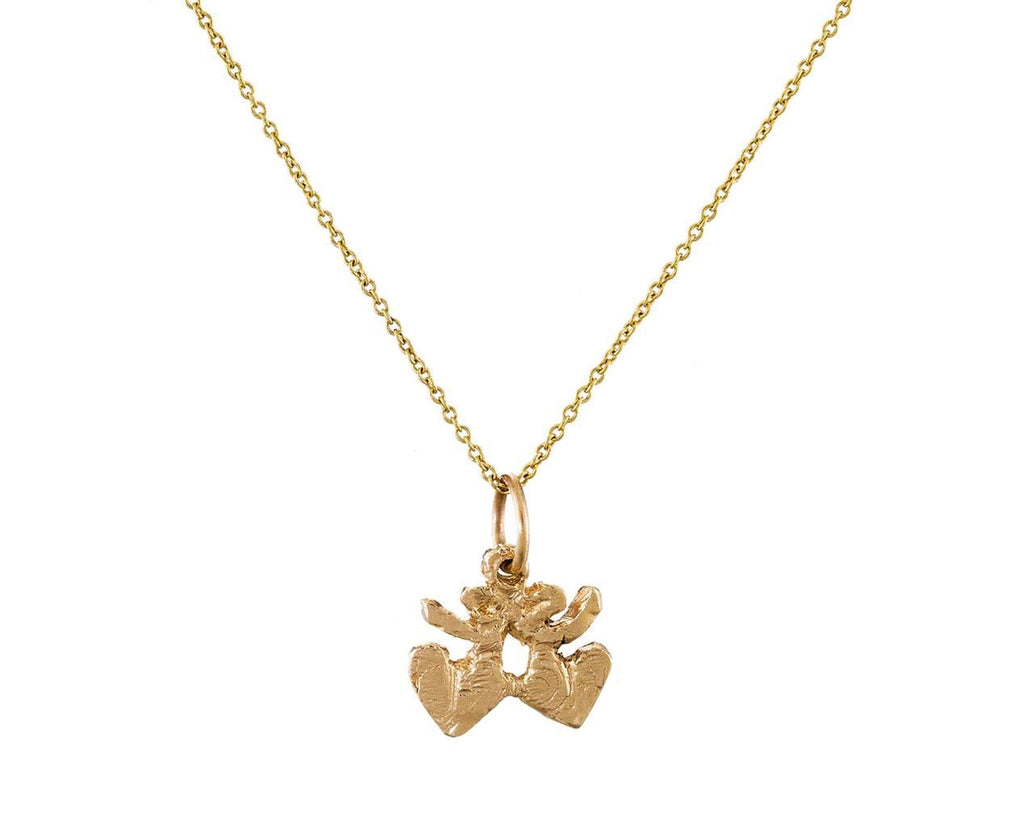 Mini Double Heart Pendant Necklace zoom 1_ice_cream_candy_gold_mini_double_heart_pendant_n