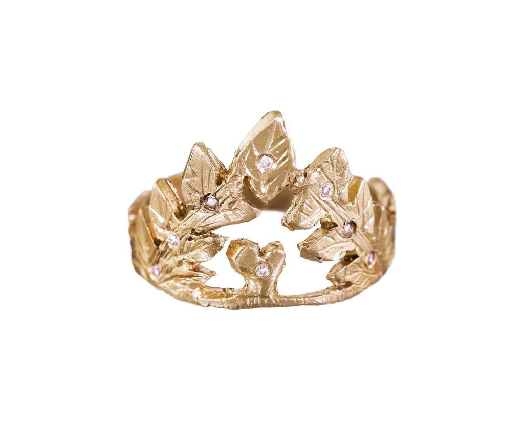 Staying Alive Ring with Diamonds zoom 1_ice_cream_candy_gold_staying_alive_ring