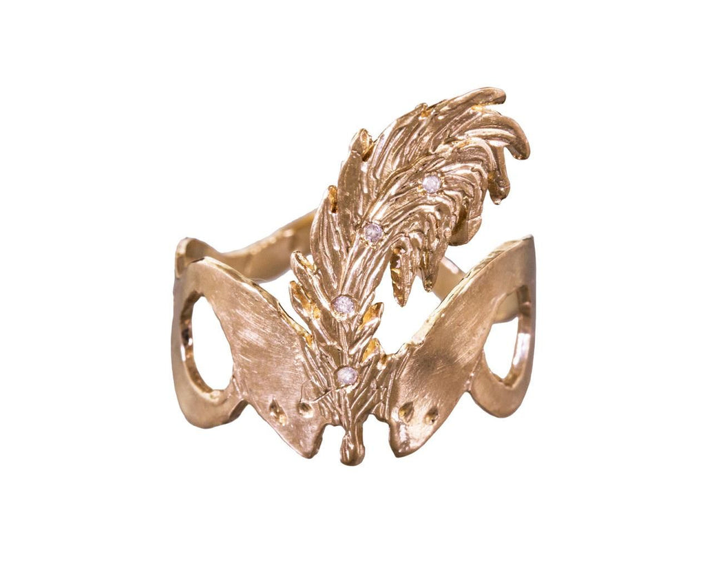 Snake and Feather Ring - TWISTonline