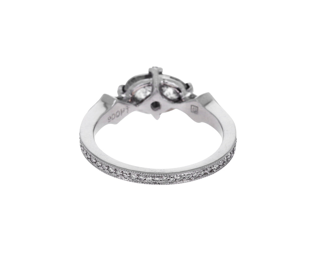 Gray Diamond Antique Prong Solitaire
