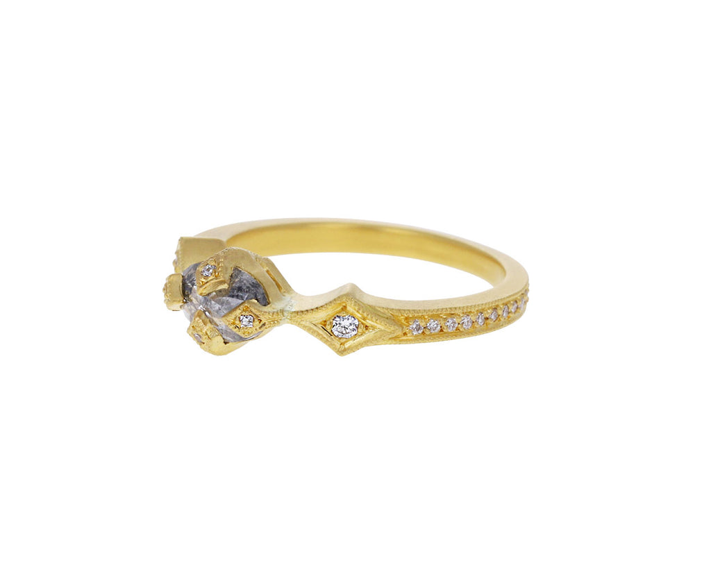 Rustic Diamond Antique Prong Solitaire