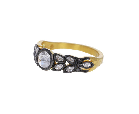Silver Diamond Garland Ring