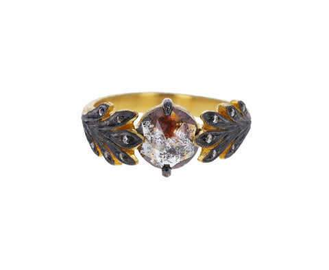 Gray Rustic Diamond Leafside Ring