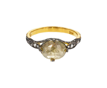 Rustic Diamond Petal Side Ring - TWISTonline