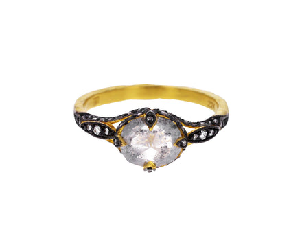 Rustic Diamond Petalside Ring