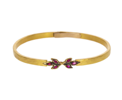 Ruby Marquise Leaf Bangle Bracelet - TWISTonline