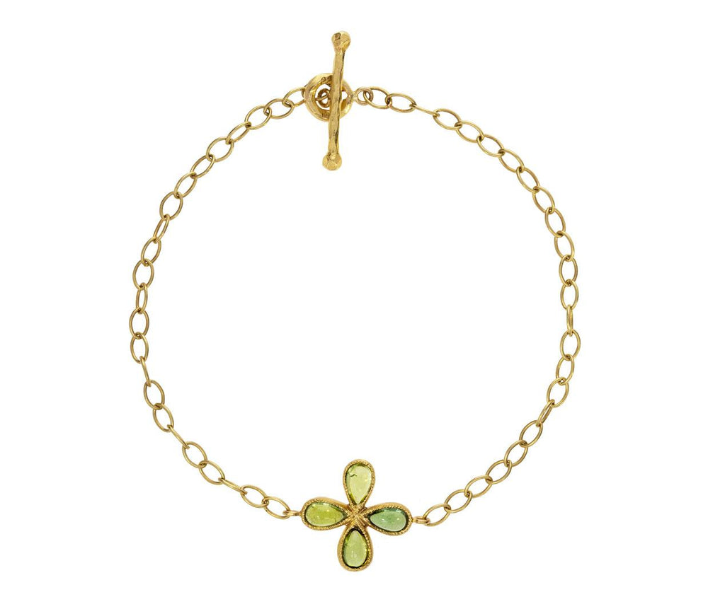 Spring Green Tourmaline Flower Star Bracelet - TWISTonline
