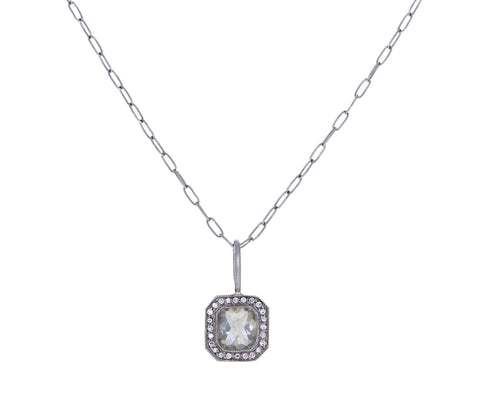 Inverted Diamond Pavé Frame Charm Pendant ONLY