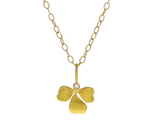 Diamond Clover Charm Pendant ONLY